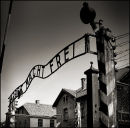 The Entrance Gate into Auschwitz Concentration and Extermination Camp