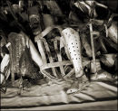 Artificial Limbs of Victims. Auschwitz Concentration Camp