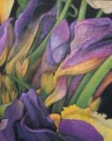 """Autumn Crocuses, acrylic on canvas, 30"""" x 16"""", 2010"""