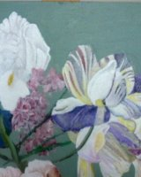 "Mixed 2. acrylic on canvas, 8"" x 8"", 2015"