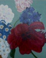 "Mixed 3, acrylic on canvas, 8"" x 8"", 2015"