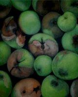 """Autumn in the Garden, acrylic on canvas, 10"""" x 10"""", 2010"""