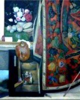 """Cornelius G. Was Here, acrylic on canvas, 8"""" x 8"""", 2010"""