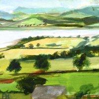 Across The Severn I. Acrylic