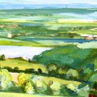 Across the Severn II. Acrylic