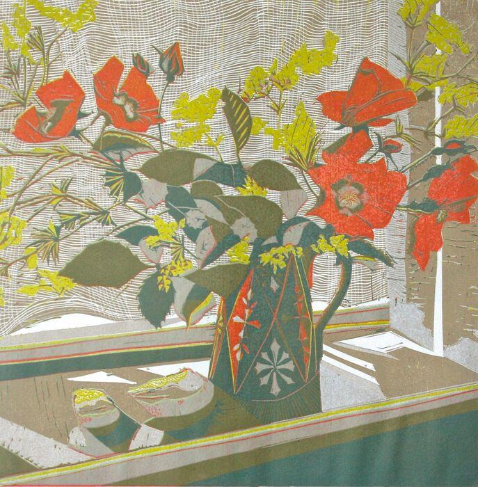 China Roses on the Quiet Windowsill