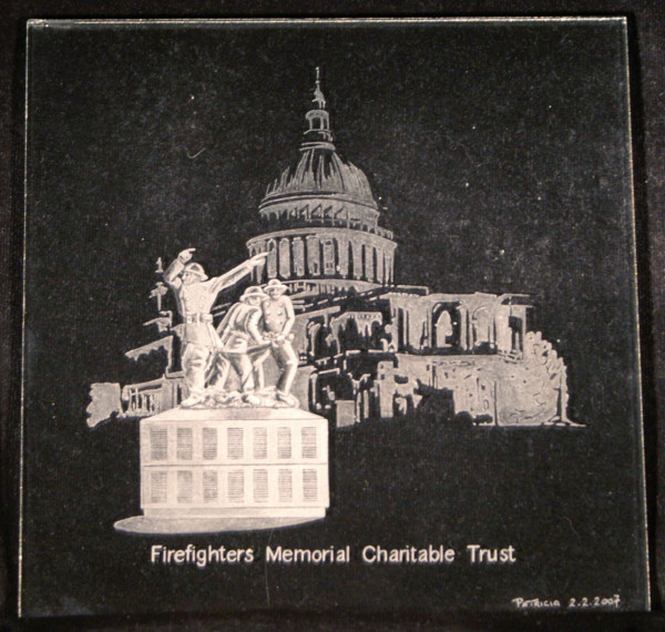 Firefighters Memorial, St Pauls Cathedral, London
