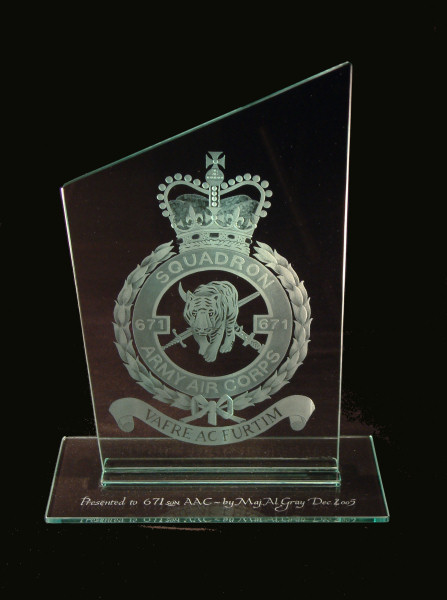 Presentation from an officer leaving Middle Wallop Army Air Base