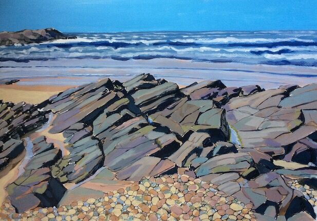 Rocky wall, Saligo Bay [ SOLD ]