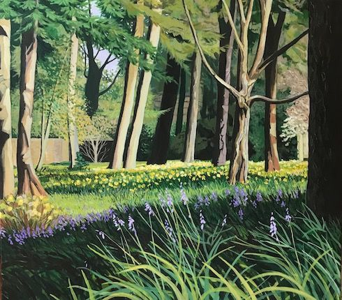 Daffodils and bluebells