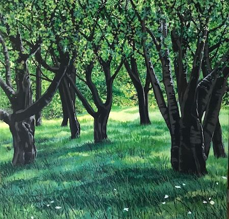 Deep in the orchard