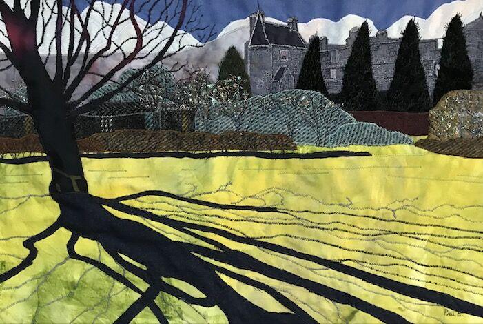 Long spring shadows, Falkland Palace