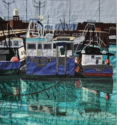 Three in a row, Pittenweem Harbour