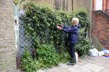 Lady guerrilla gardener