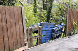 Arvon Road Wood to show gap in fence from street
