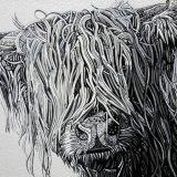 Abstract Highland Cow 3 (Sculptural)