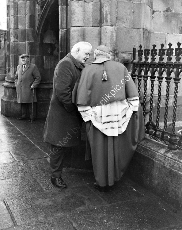 103 Brendan McGahon FG TD with Cardinal Thomas O'Fiaich