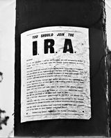 42 An IRA recruiting poster on a pole at The Ramparts