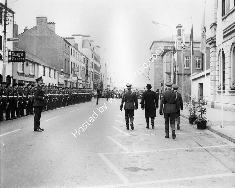 48 President Patrick Hillary with Guard of Honour at Dundalk Town Hall