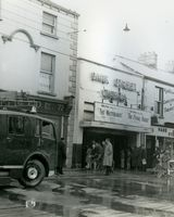08 Fire Park St. cinema. The Flame of Araby being screened at the time. c. 1960's