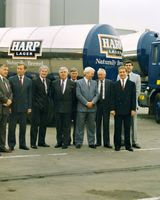 91 Harp Executives with new beer delivery trucks