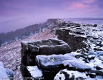 Mist approaching Stanage Edge