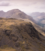 Kirk Fell and Pillar from the summit of Great Gable