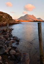 Evening light on Loch Sionasgaig and Cul Mor