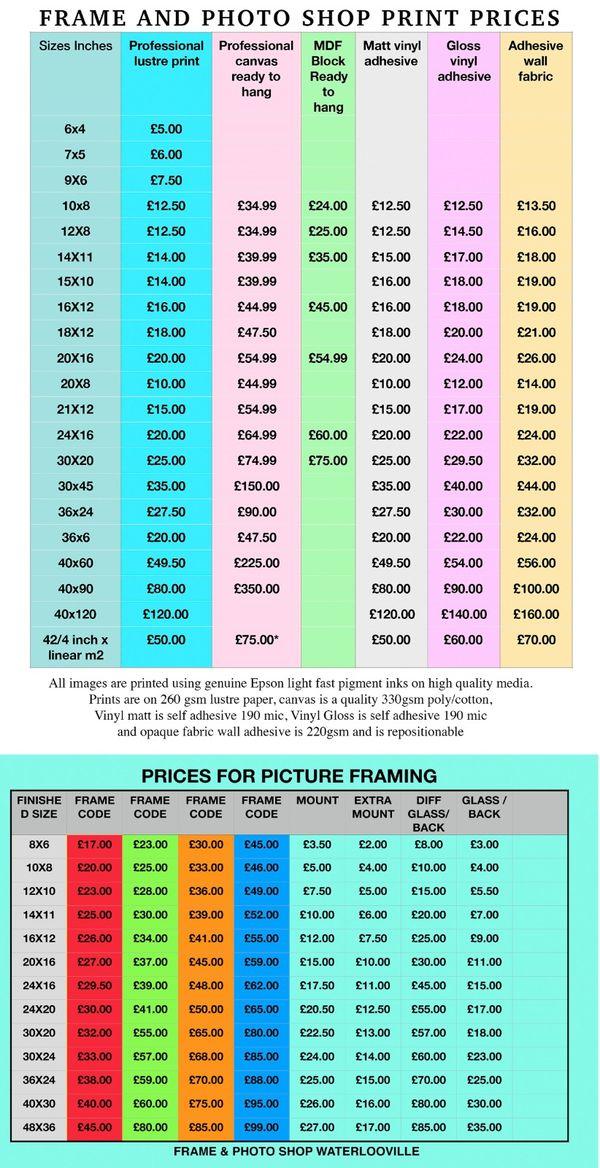 poster print prices web