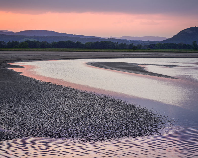Kent Estuary and Distant Langdale Pikes, 2016