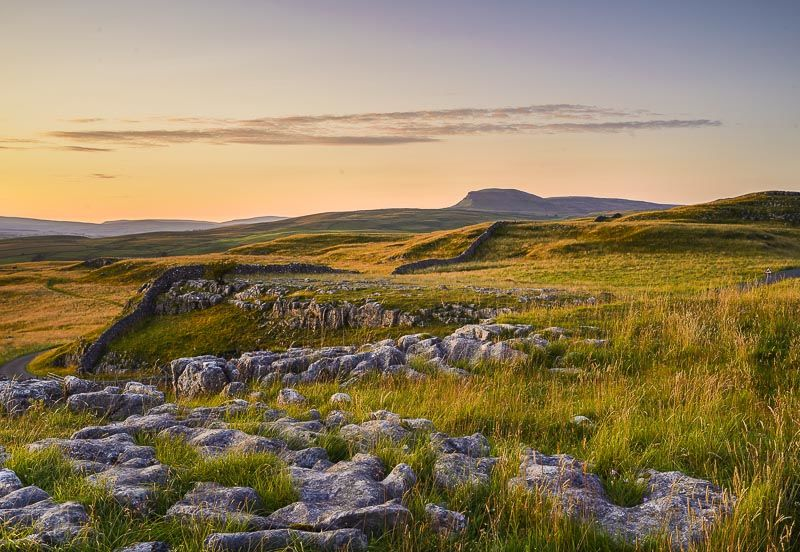 Penyghent and Winskill Stones, Summer Evening, 2019