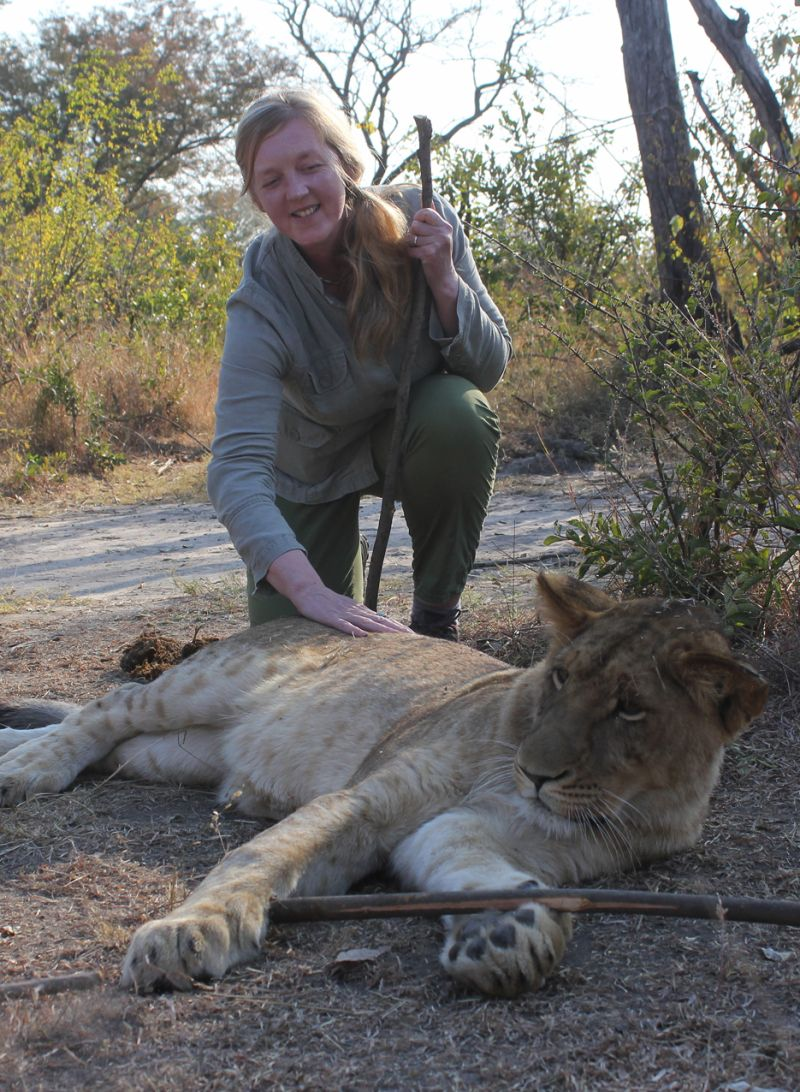 Jenny with Lioness.