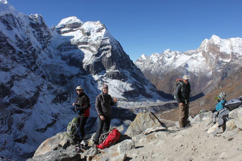 Altitude training above Khare
