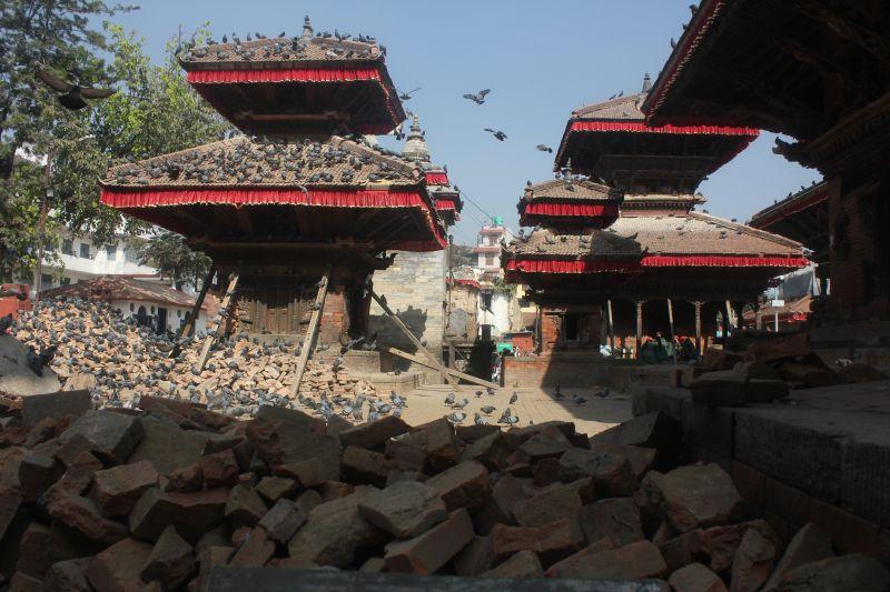Earthquake aftermath in Durbar Square Kathmandu