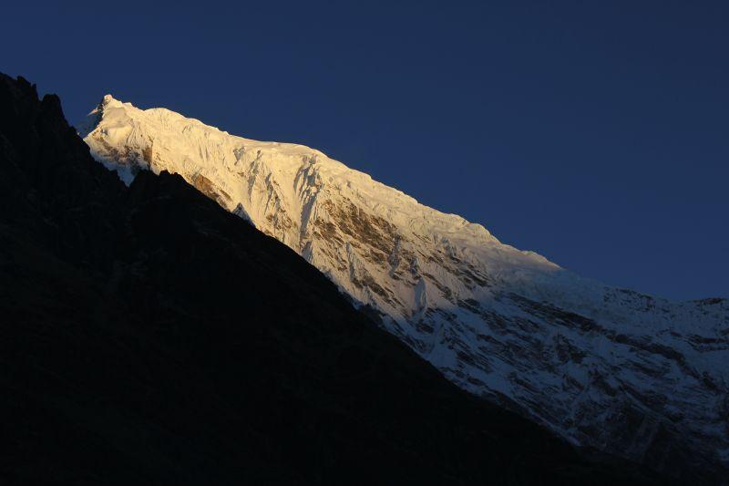 Sunrise over Langtang Lirung