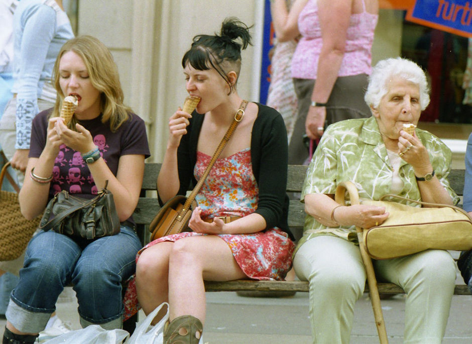 Street Bench (Three Ices), Stall Street, 2004