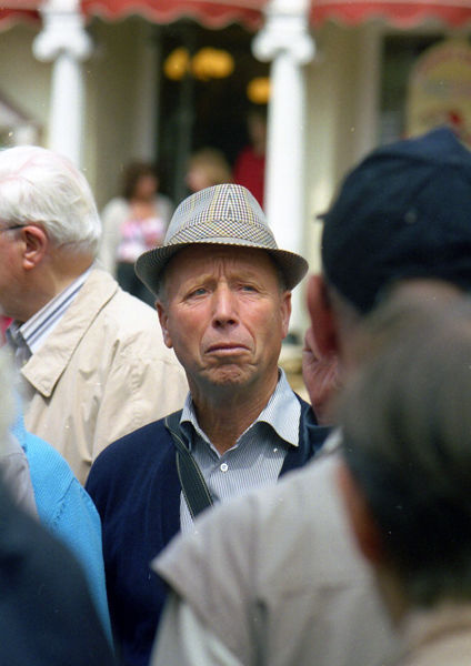 The man in the hat, Abbey Church Yard 2004