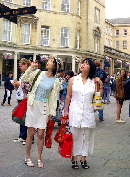 Two oriental women , Bath Street 1998