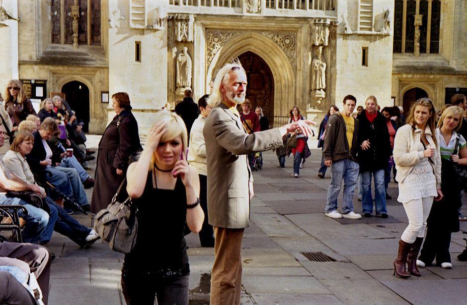 The silent preacher, Bath Abbey, 2006