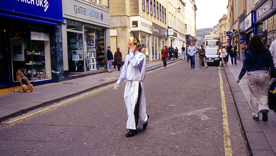 Man in Toga, Westgate Street, 2010