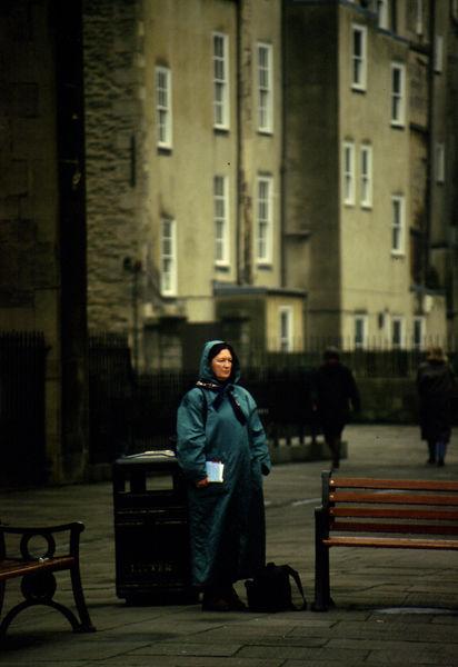 Woman in Green Abbey Church Yard 1997