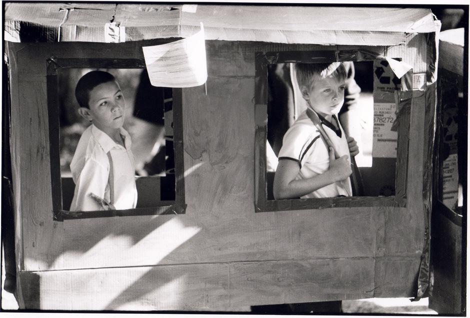 2 Boys in Procession, Radstock Gala 2001