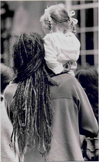 Man and child, Bath Abbey 2000