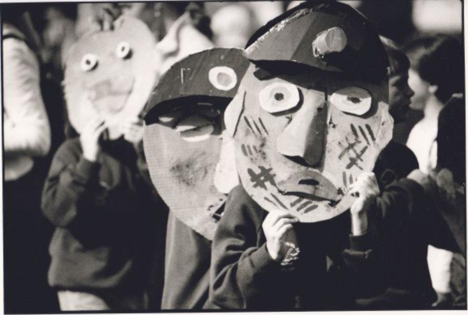 Children wearing face masks,Radstock Gala 2000