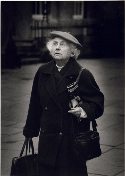 Woman with Bags, Abbey Church Yard, 2000