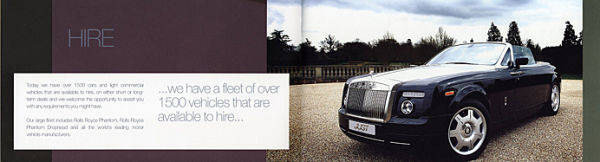 JUST PRESTIGE CARS - BROCHURE