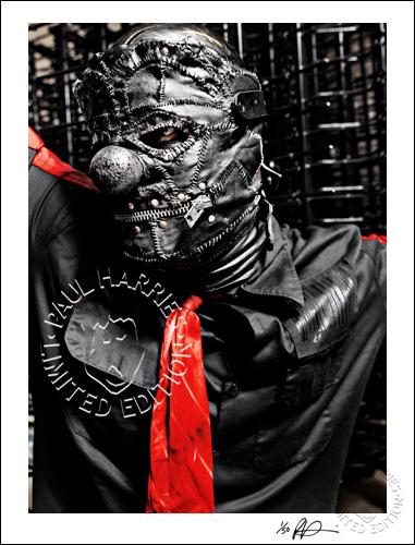 SALE. Black Leather Clown