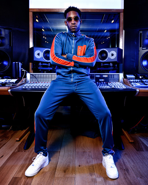 Tinie Tempah in the studio