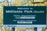 Welcome to Millfields Park in Hackney