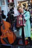 Street musician, Columbia Road, East London
